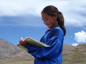 Girl in Eco Camp in India