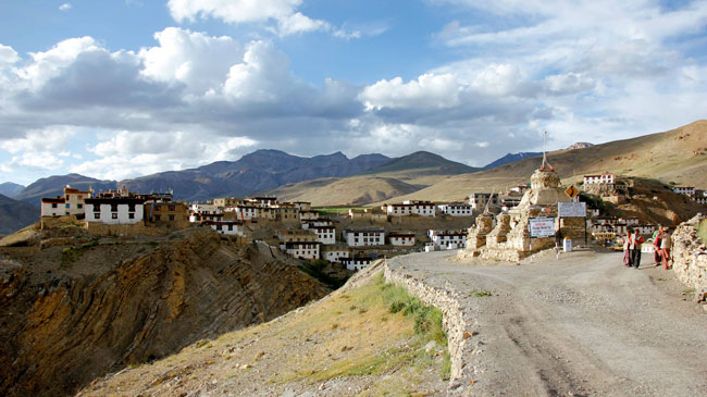 A village in Kibber, a community high above Spiti valley.