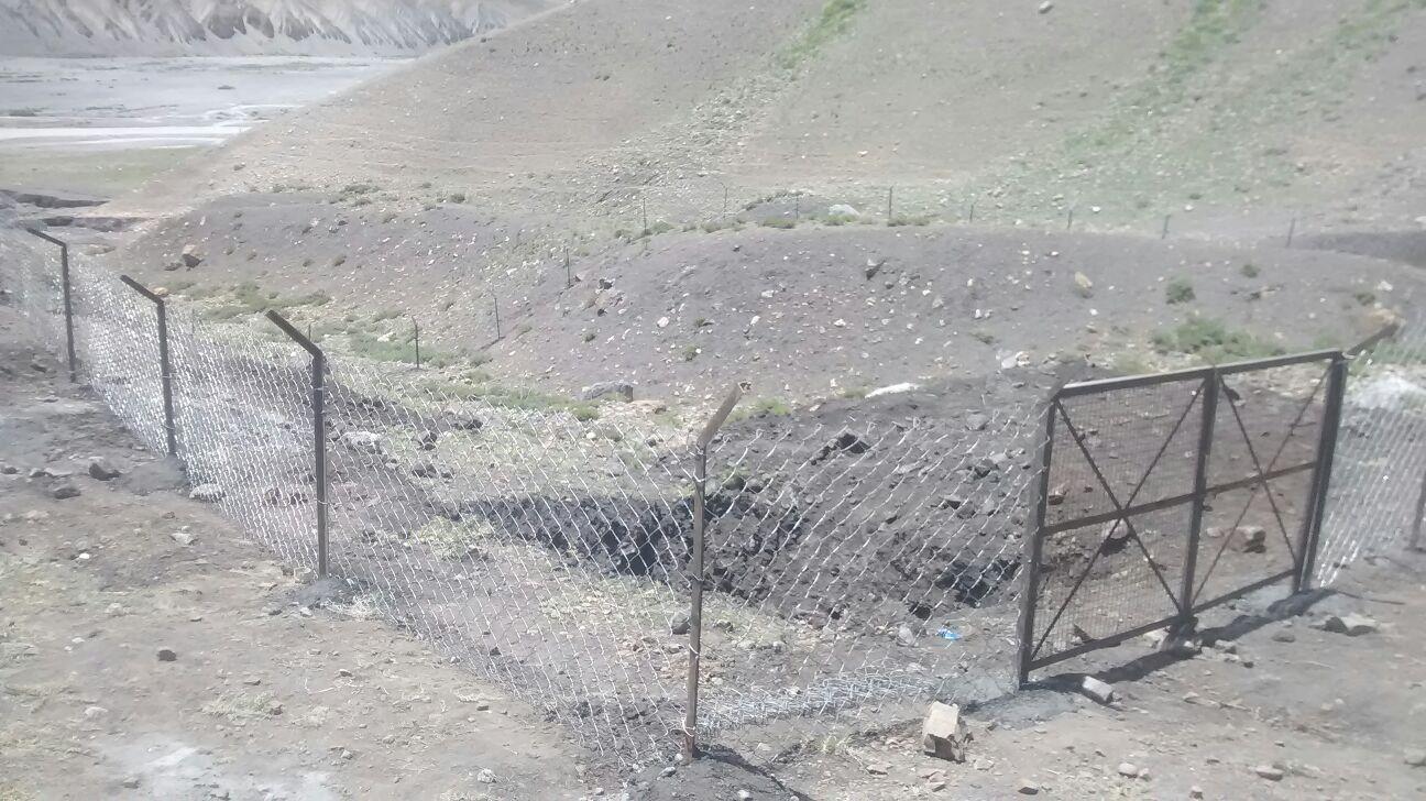 A new garbage enclosure in Kee village
