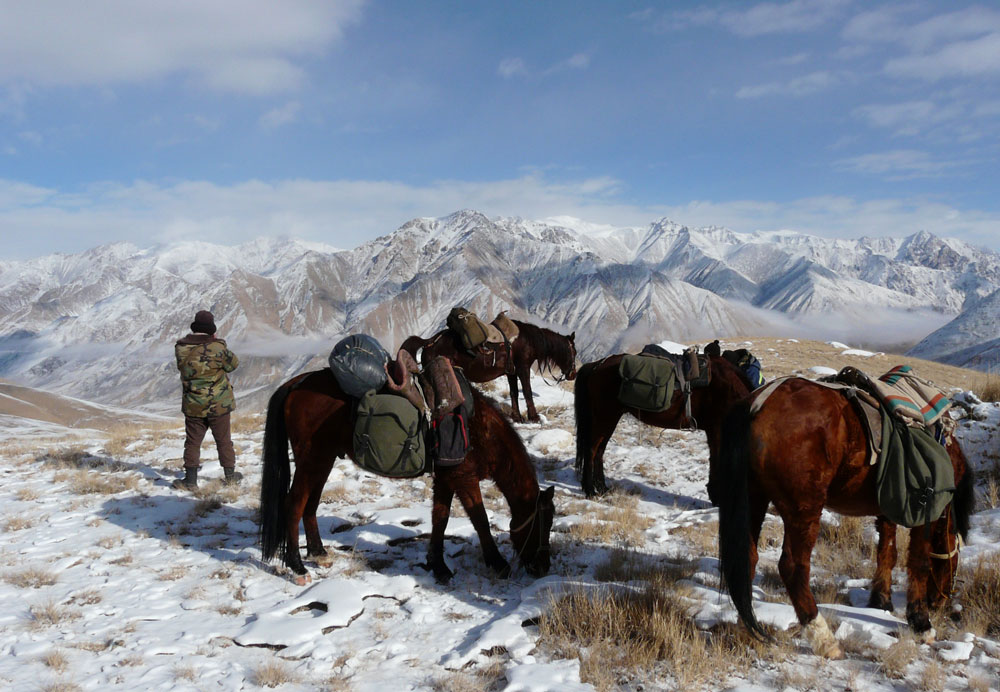 The rangers normally work far from the spotlight, in Kyrgyzstan's most remote mountain areas