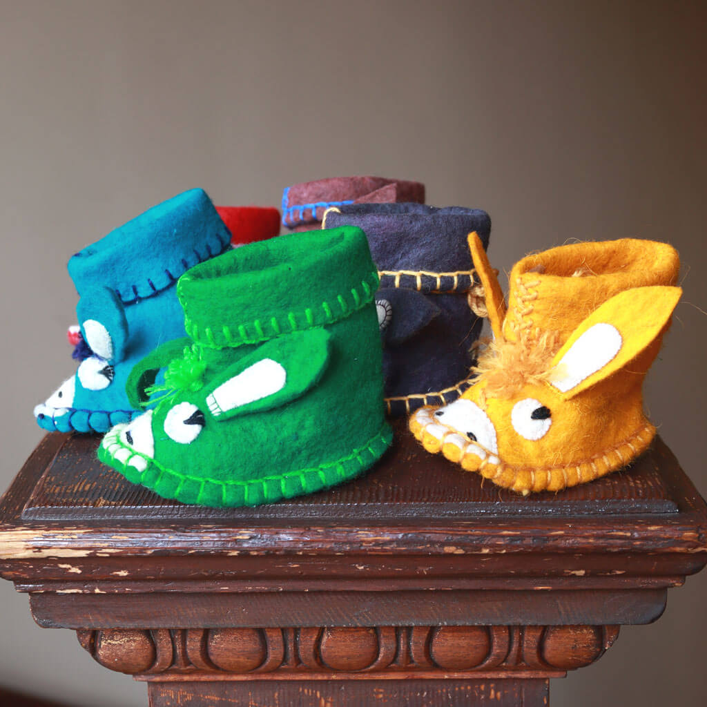 Colorful children's booties, made in Ak-Shiyrak!