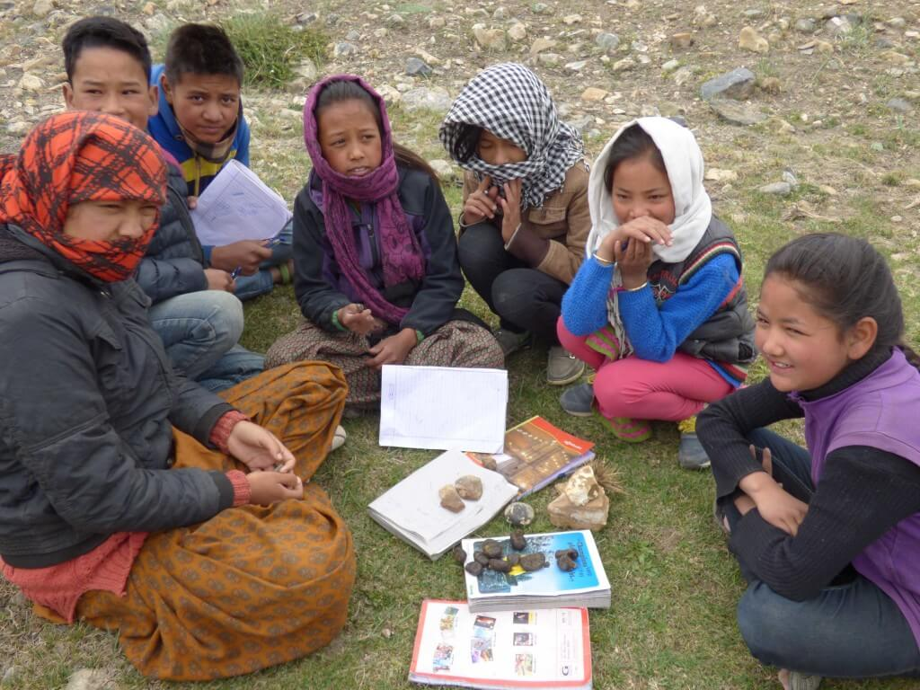 Kids participating in eco-camps experience nature with all five senses.